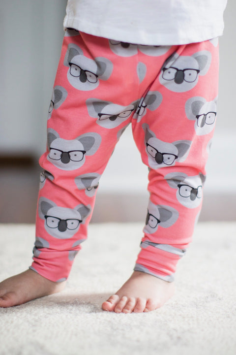 Coral Koala Leggings