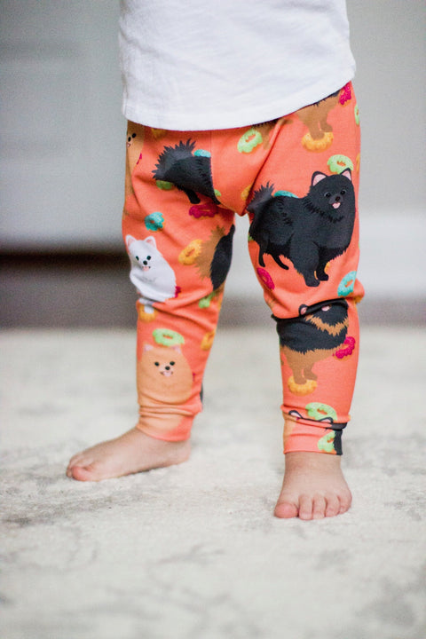 Pomeranian Print Leggings