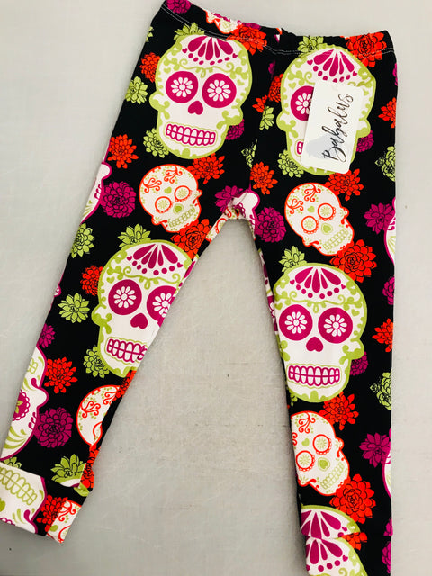 Sugar Skull Halloween Leggings