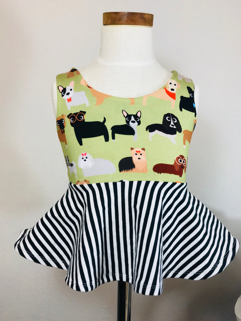 Love Puppies Peplum Top