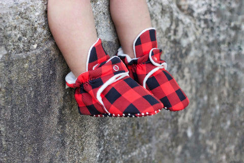 Buffalo Plaid Babalus Booties