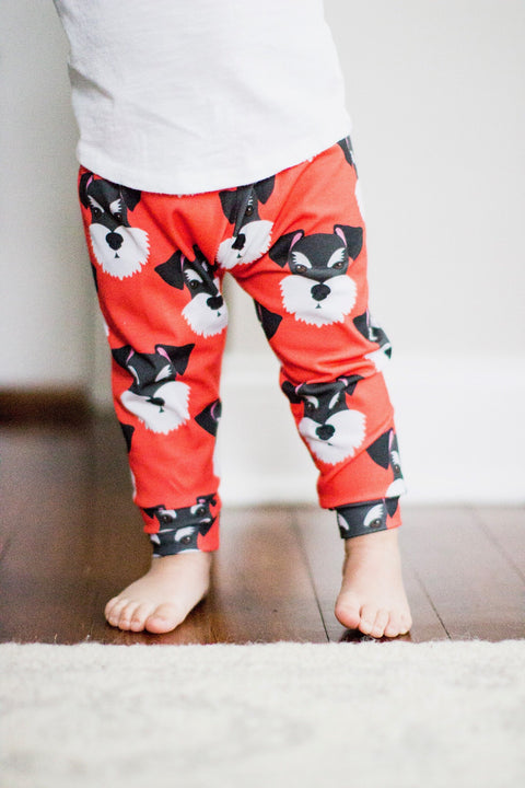 Miniature Schnauzer Print Leggings