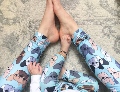 French Bulldog on Mint Women's Leggings