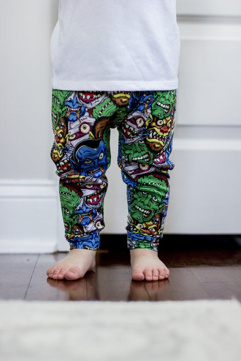Movie Monster Print Leggings