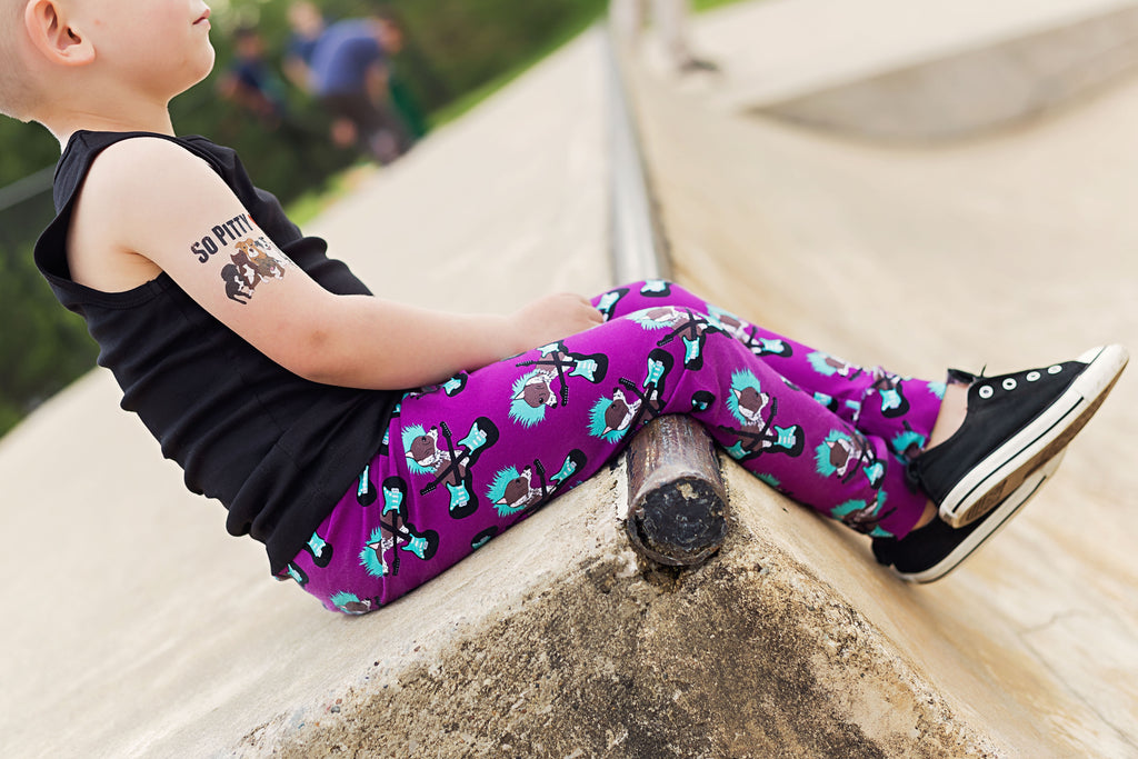 Punk Rock Pups Chinese Crested Print Leggings