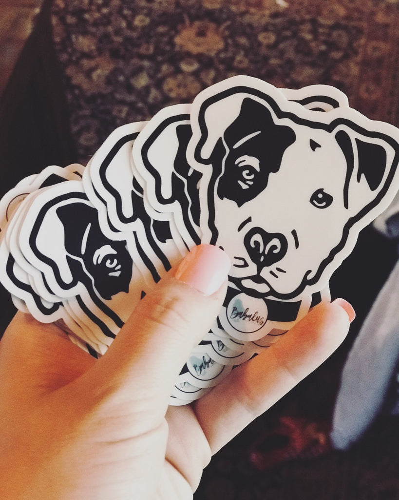 Babalus Pitbull Face Sticker