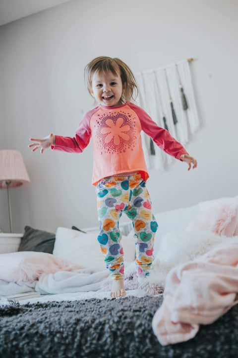 Valentines Day Conversation Hearts Leggings