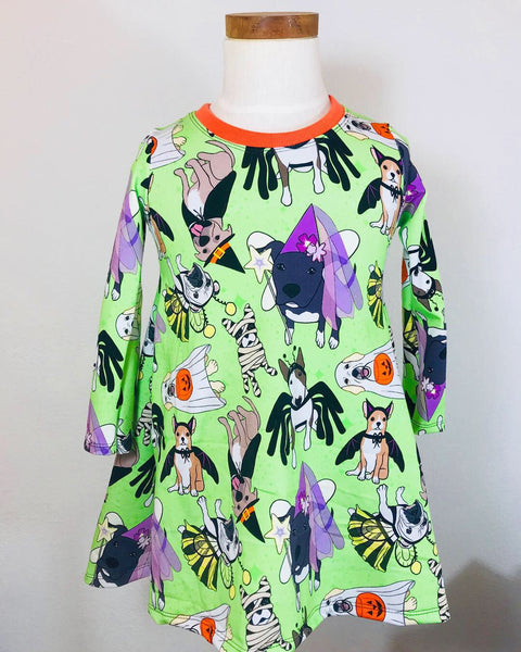 Halloween Doggies Shirt Dress