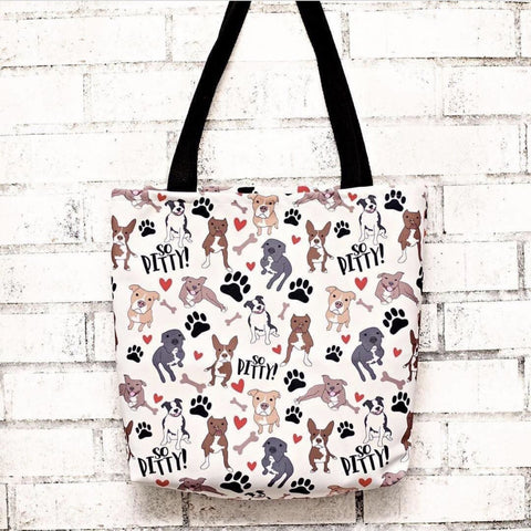 So Pitty Pitbull Tote bag