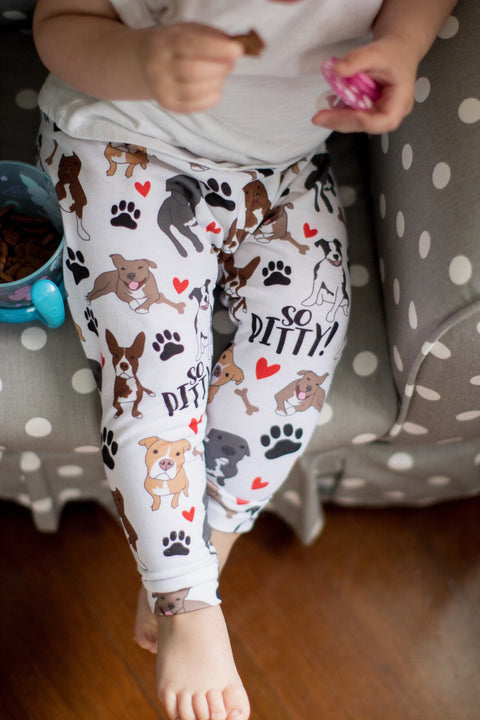 READY TO SHIP - So Pitty Pitbull Print Leggings