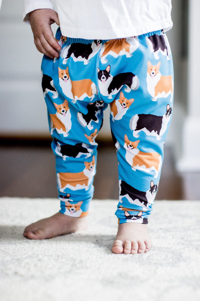 Corgi Print Leggings