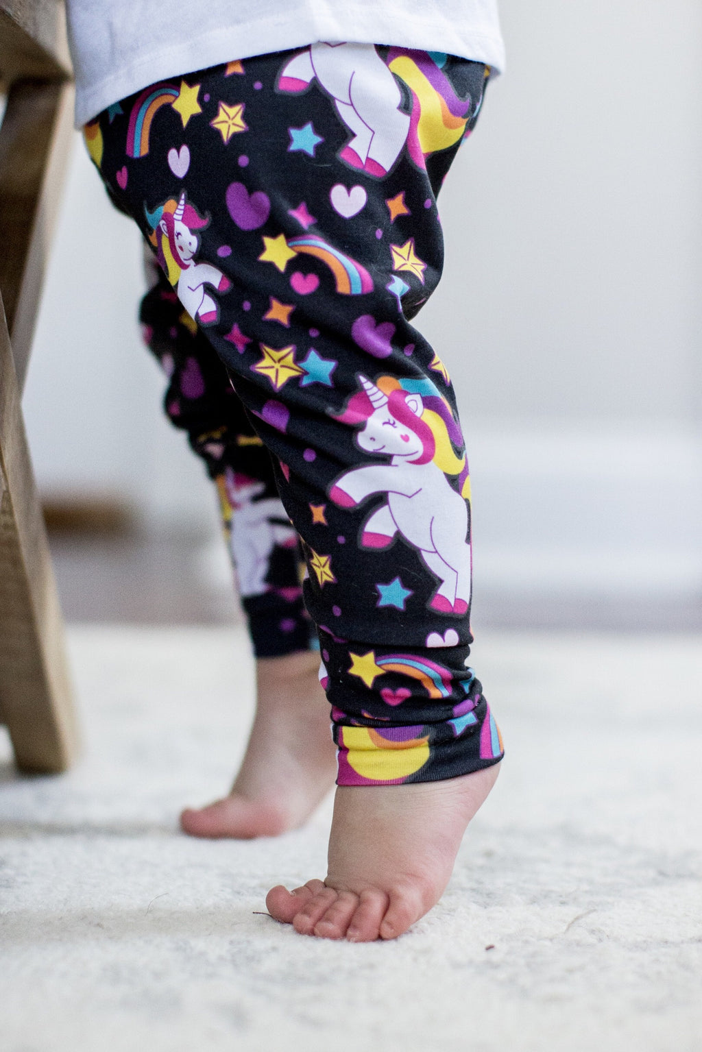 Unicorn Leggings on Black
