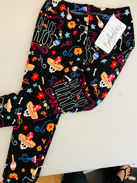 Day of the Dead Halloween Leggings