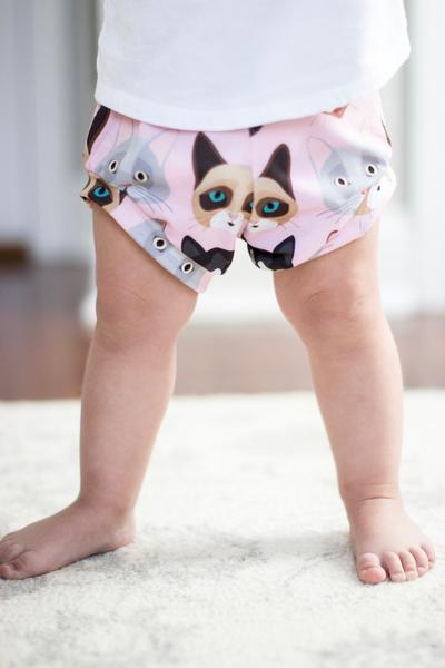 Cat Print High Waisted Bummies