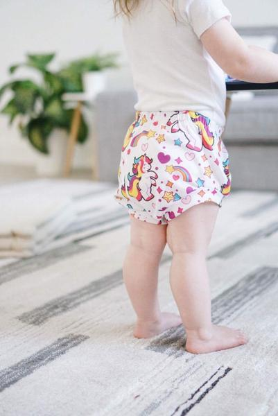 Unicorn Print High Waisted Bummies