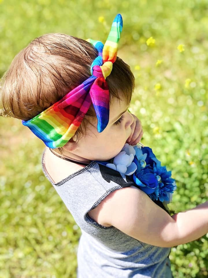 Rainbow Infant & Toddler Top Knot Headband