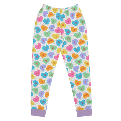 Conversation Heart Valentines Day Women's Joggers