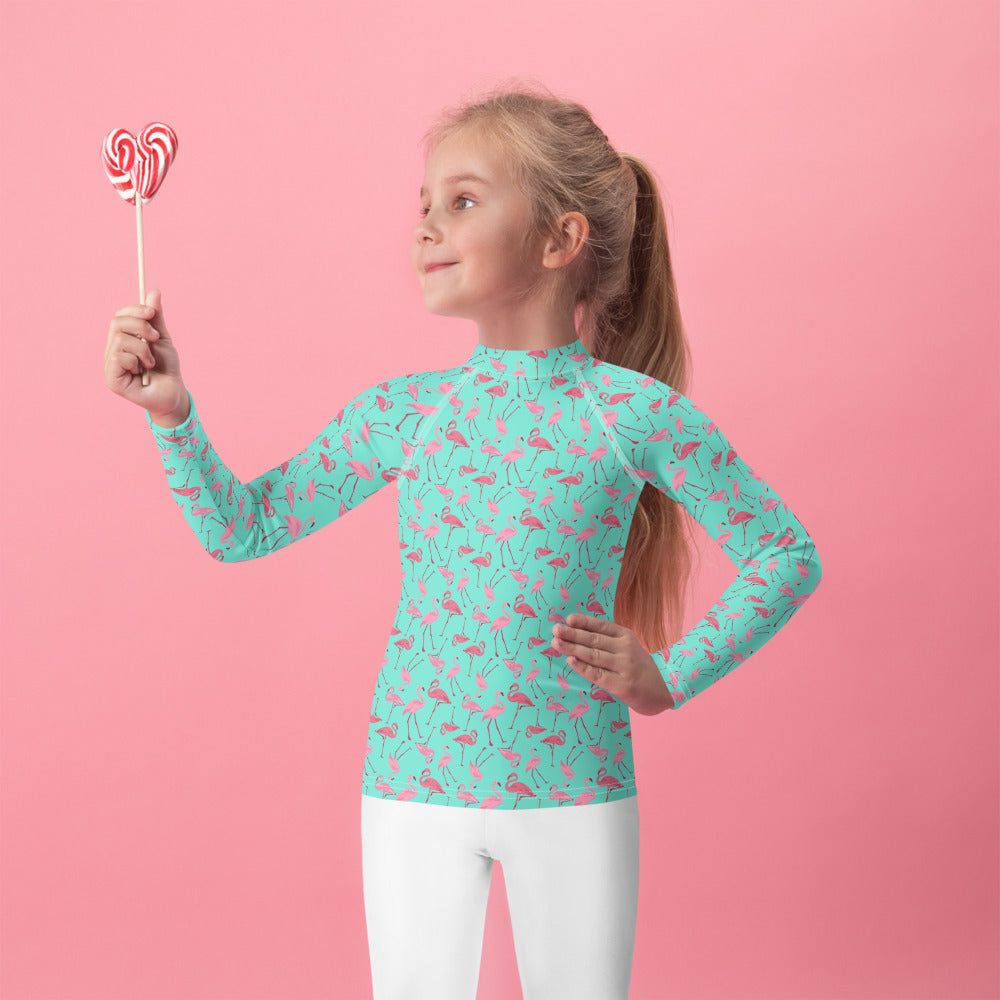 Flamingo Kids Rash Guard