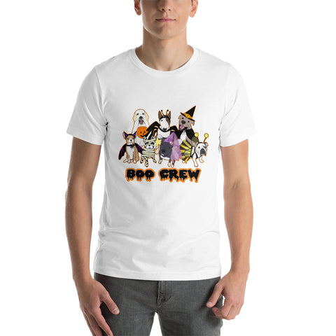 Halloween Boo Crew Labrador Retriever French Bulldog Pitbull Chihuahua English Bulldog Bull Terrier Short-Sleeve Unisex T-Shirt
