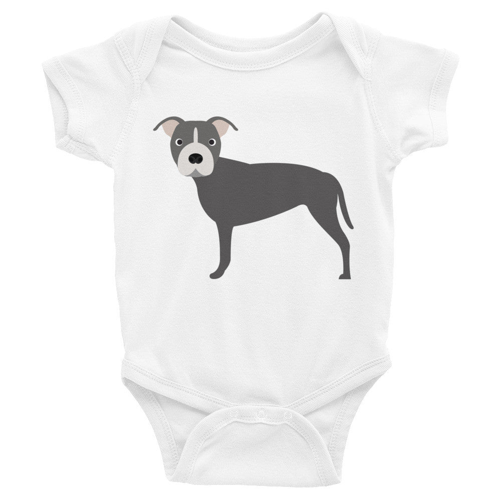 Blue Pitbull Infant Bodysuit