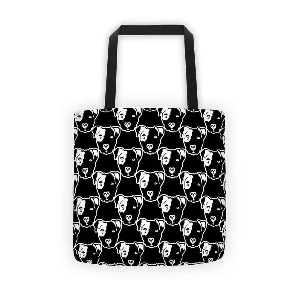 Pitbull Faces Tote bag