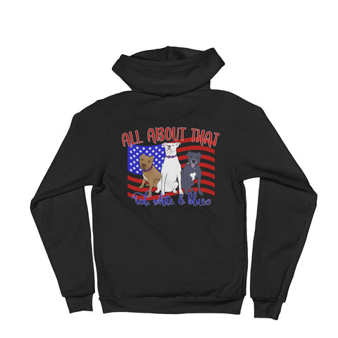 All about that red, white and blue Pitbull Hoodie sweater