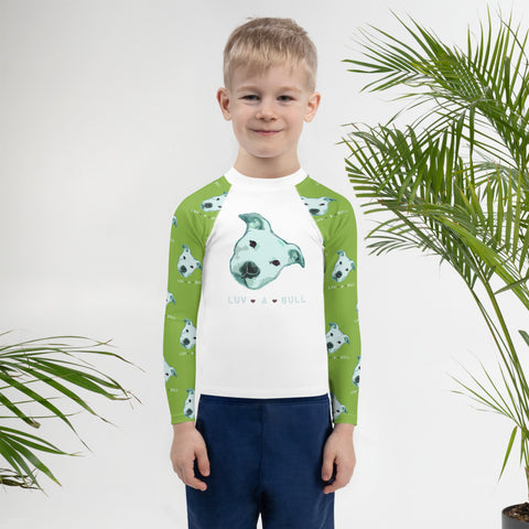 Luv a Bull Pitbull Kids Rash Guard