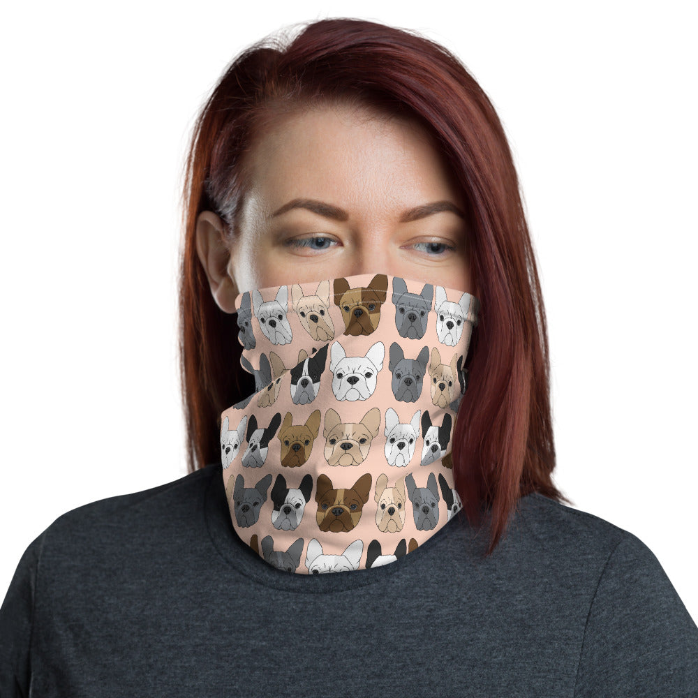 Peach French Bulldog Mask