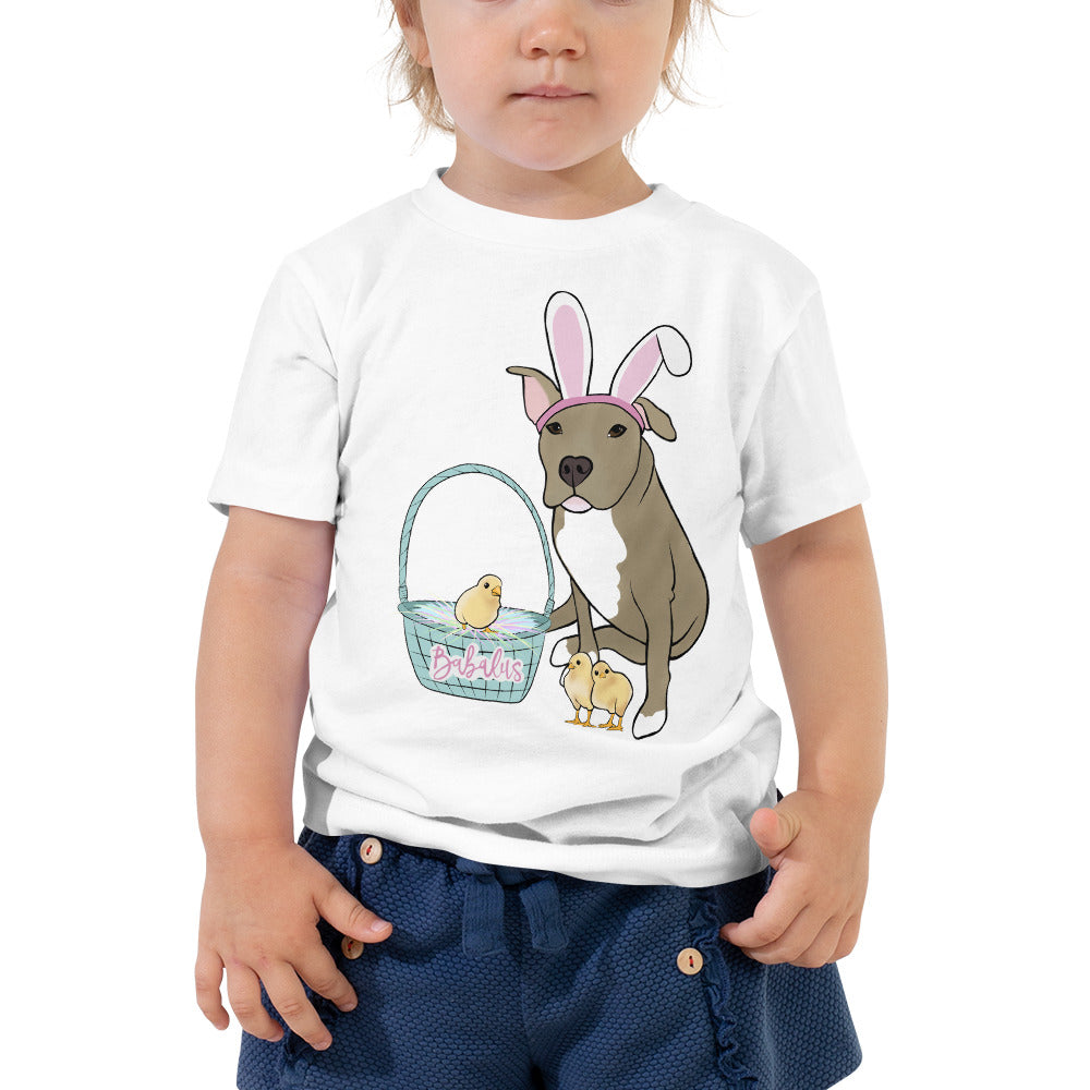 Easter Pitbull Toddler Short Sleeve Tee