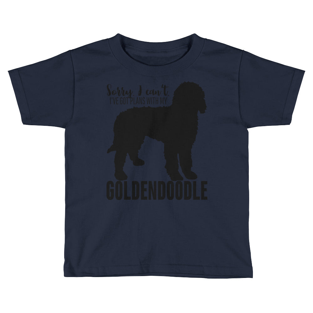 Plans with my Goldendoodle Kids Short Sleeve T-Shirt