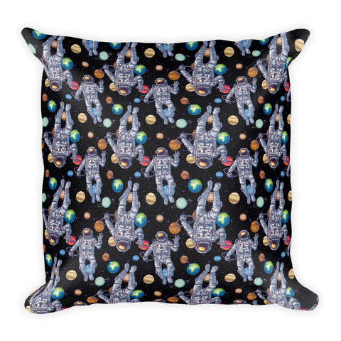 Astronaut Outer Space Planet Square Pillow
