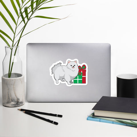 Christmas Pomeranian Sticker