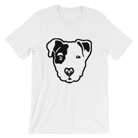 Pitbull Face Short-Sleeve Unisex T-Shirt