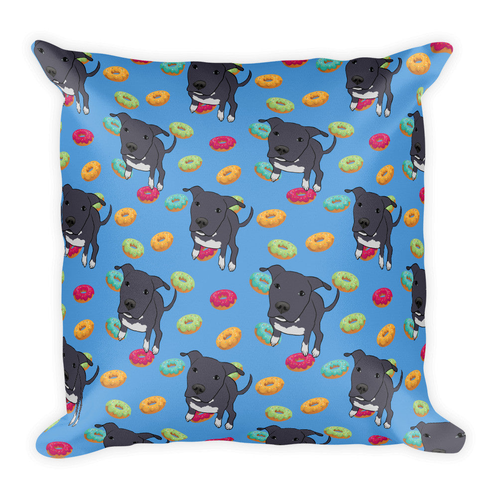 Dori & Donuts Square Pillow