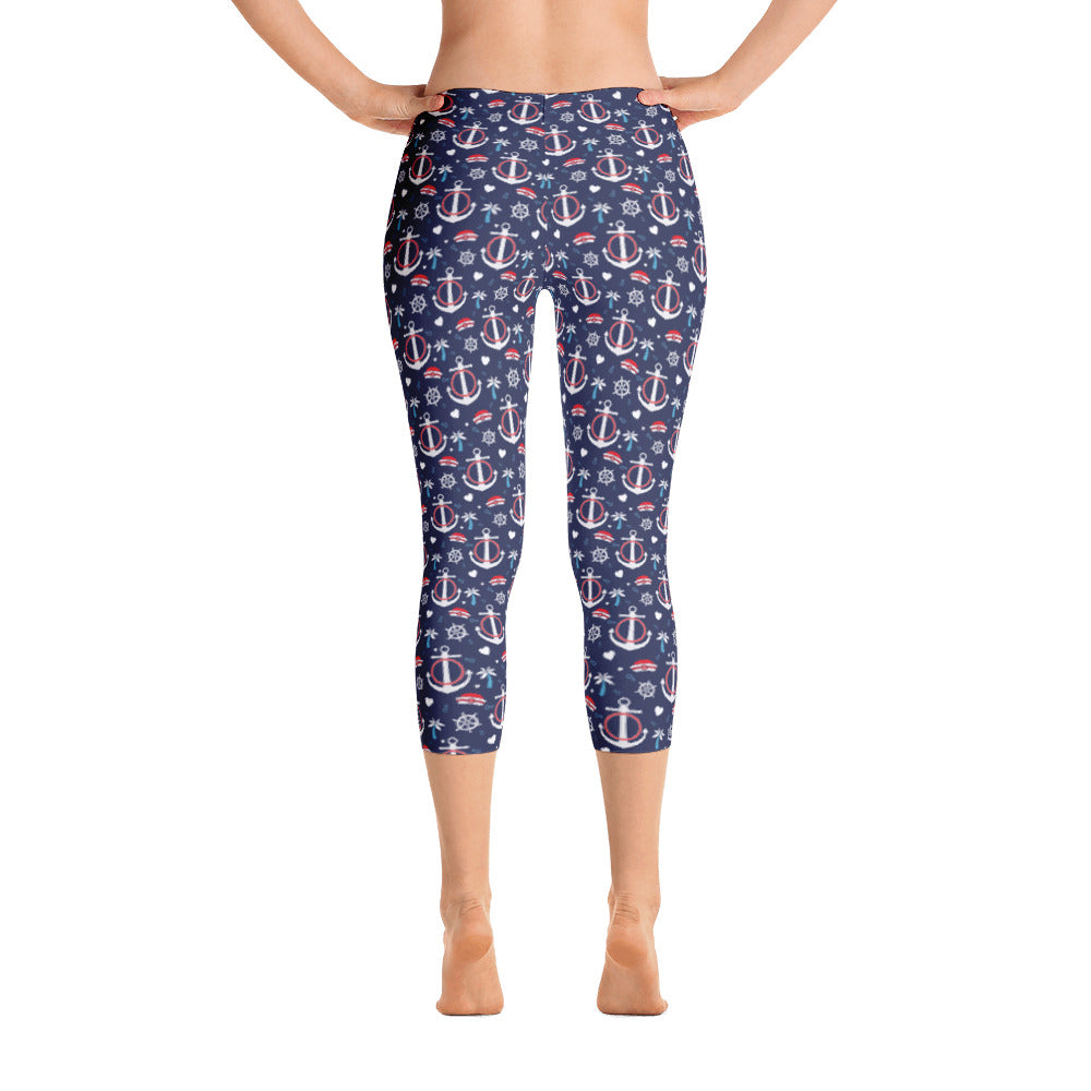 Anchor Capri Leggings