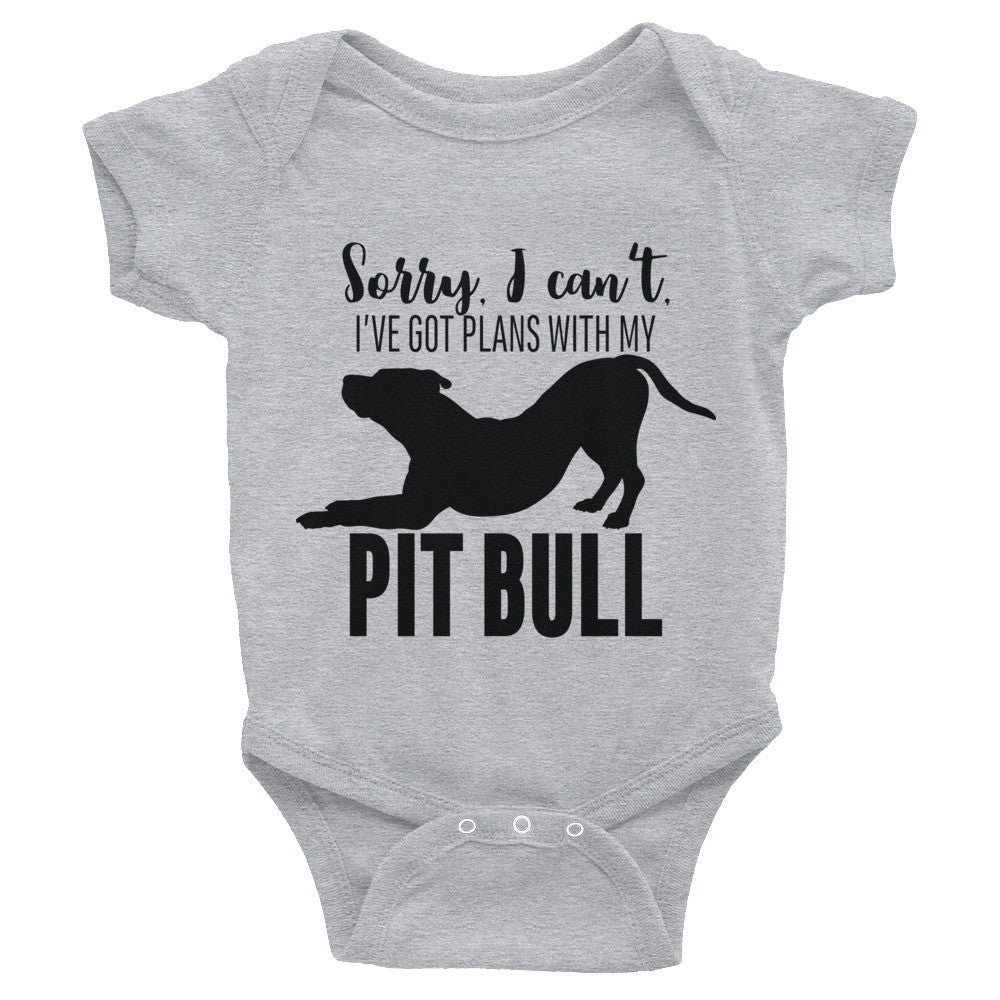Plans with my Pitbull Infant Bodysuit