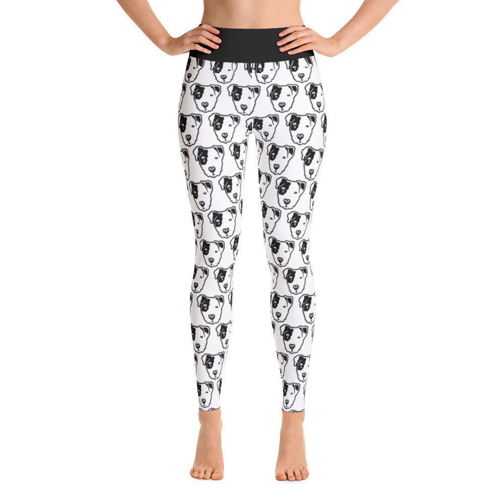 Pitbull Face Yoga Leggings
