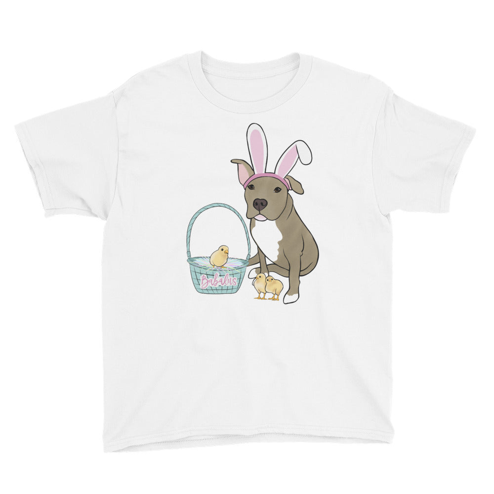 Easter Pitbull Youth Short Sleeve T-Shirt