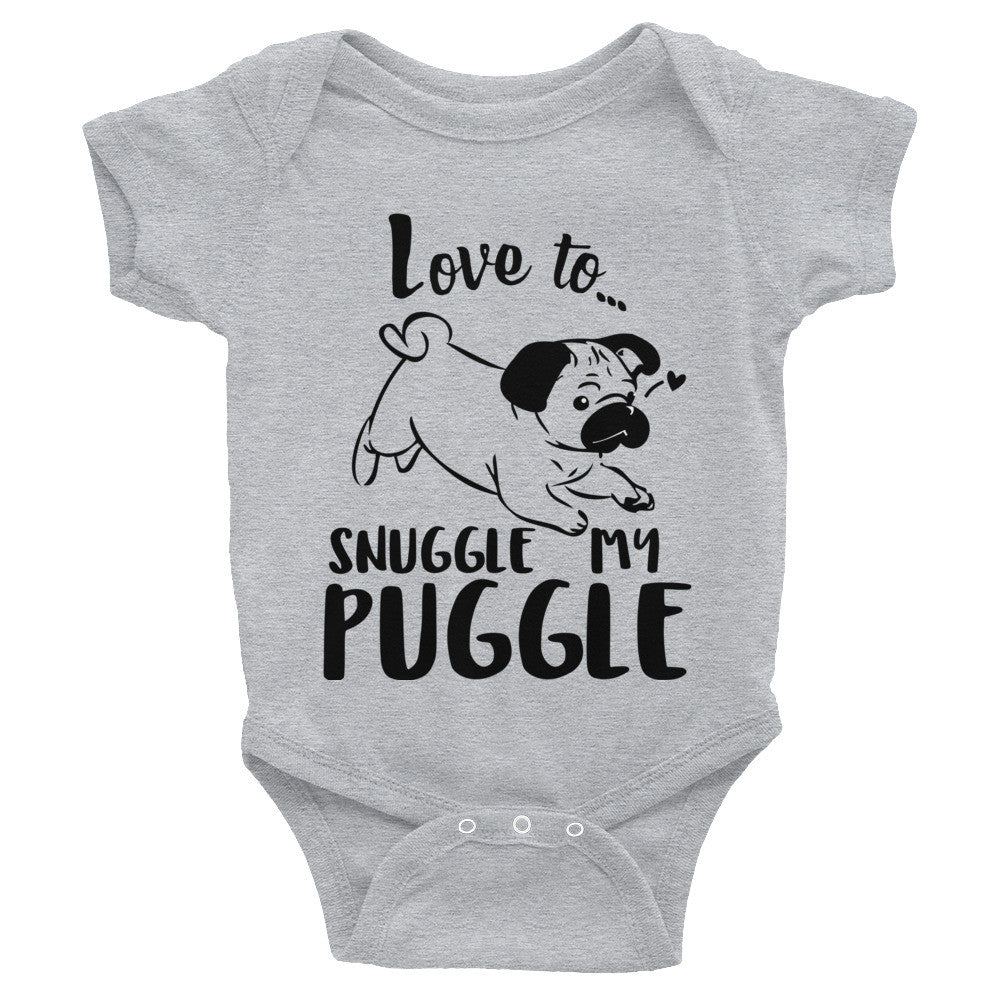 Love to snuggle my Puggle Infant Bodysuit