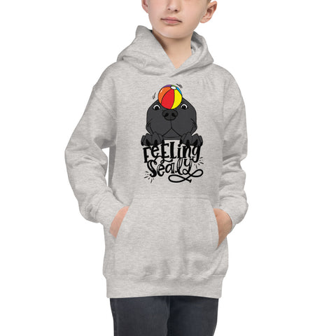 Feeling Sealy Pitbull Seal Kids Hoodie