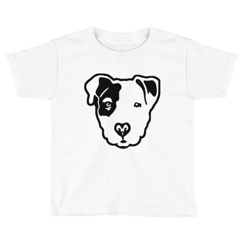 Pitbull Face Kids Short Sleeve T-Shirt