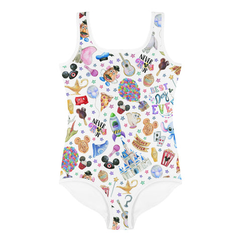Best Day All-Over Print Kids Swimsuit