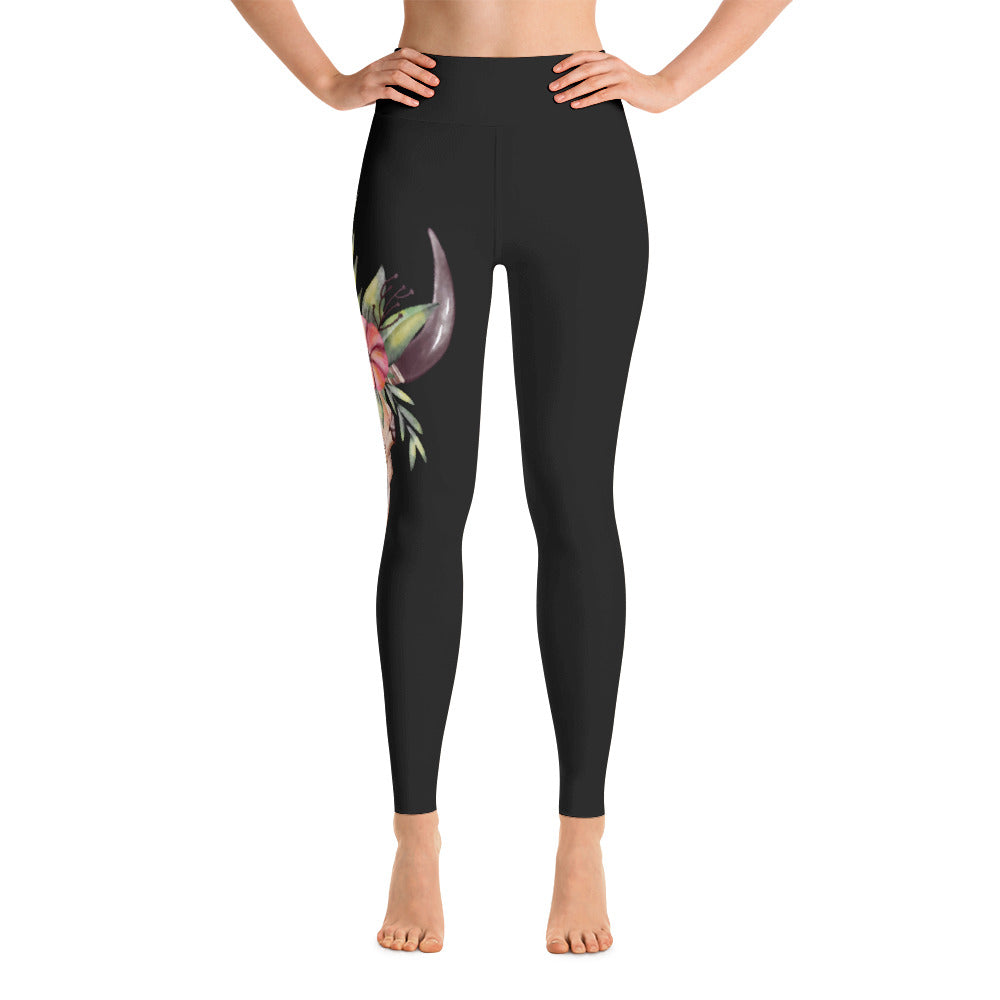 Cow Skull Yoga Leggings
