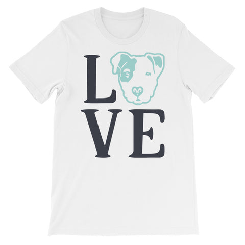 Pitbull Love Short-Sleeve Unisex T-Shirt
