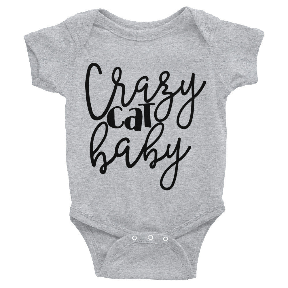 Crazy Cat Baby Infant Bodysuit