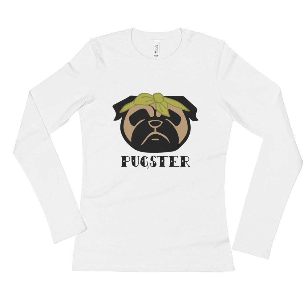 Pugster Pug Ladies' Long Sleeve T-Shirt