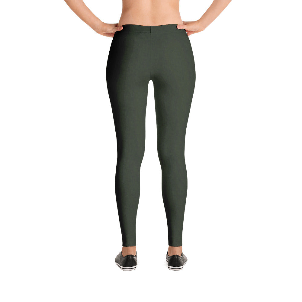 Heathered Forest Green Babalus Basics Women's Leggings