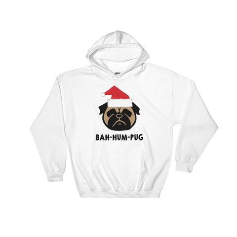 BAH HUM PUG Christmas Hooded Sweatshirt