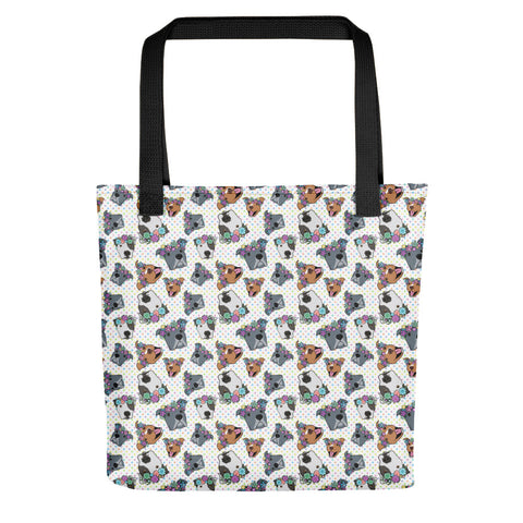 Polkadot Polka pitty Pitbull Tote bag