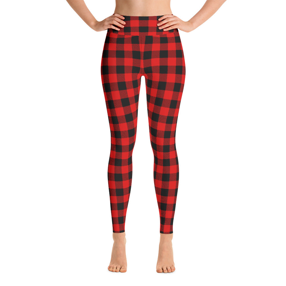 Buffalo Plaid Yoga Leggings